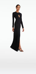 Christy Black Long Dress