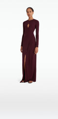 Christy Wine Long Dress