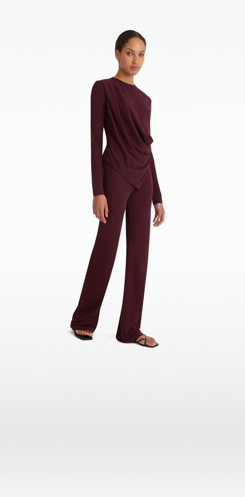 Lea Wine Trousers