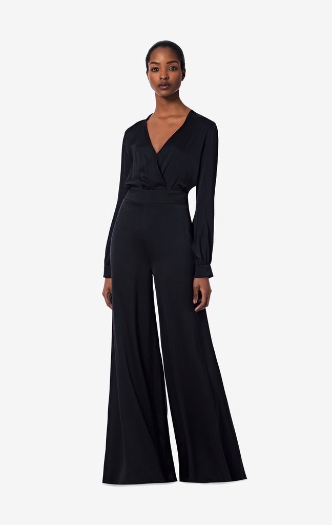 Nara Black Silk Trousers