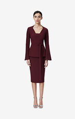 Idita Wine Midi Dress