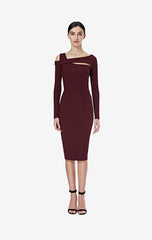 Maggie Wine Jersey Dress