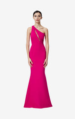 Penelope Fuchsia Long Dress