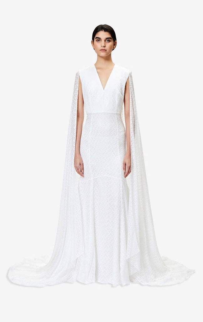 Carola Cape Sleeved Gown