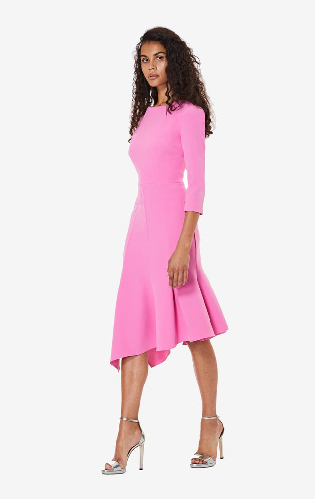 Noelle Three Quarter Sleeve Midi Dress