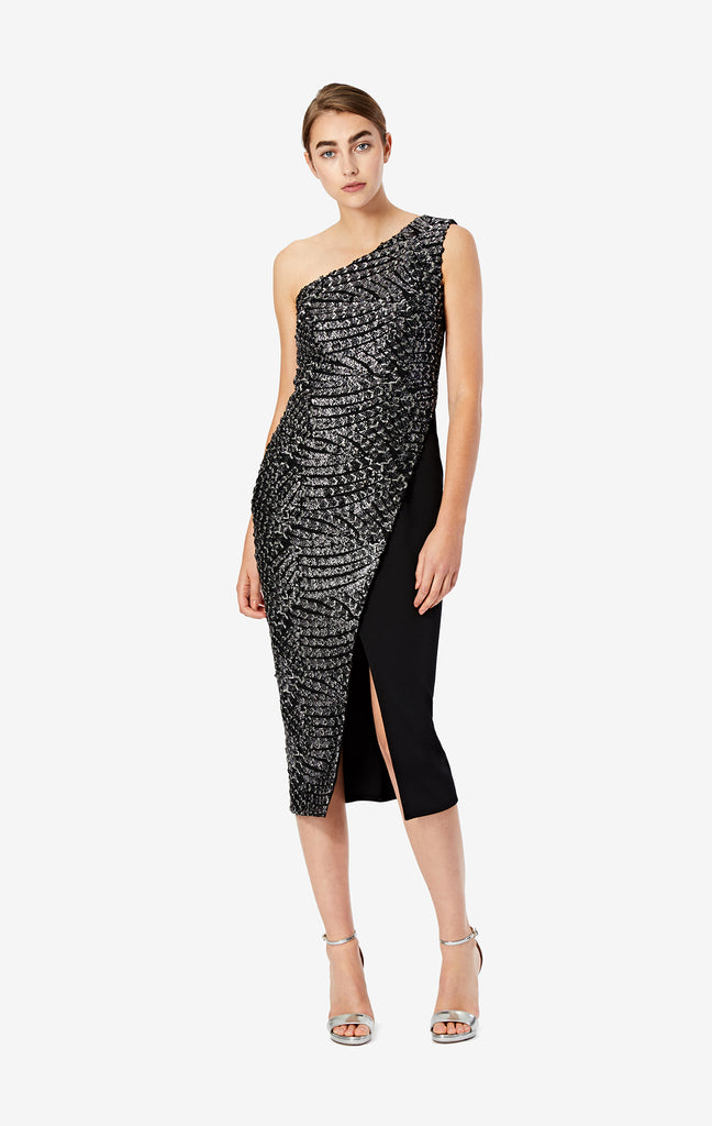 Antonella Sequinned Scale Mesh Dress