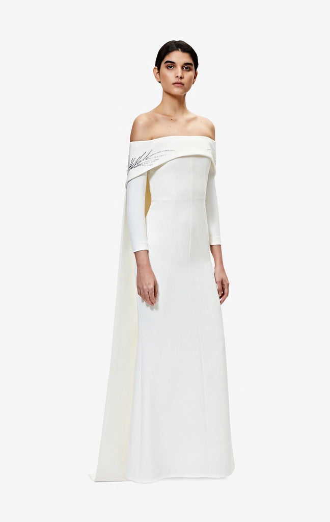 Bellara Ivory Long Dress With Harness