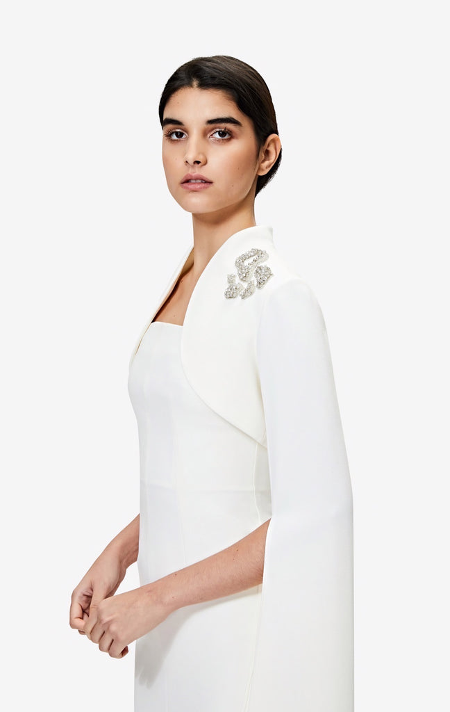 Amari Ivory Embroidered Bolero