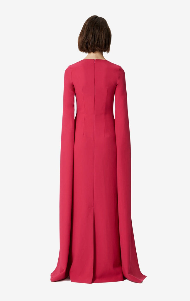 Talin Embroidered Drape Sleeve Dress