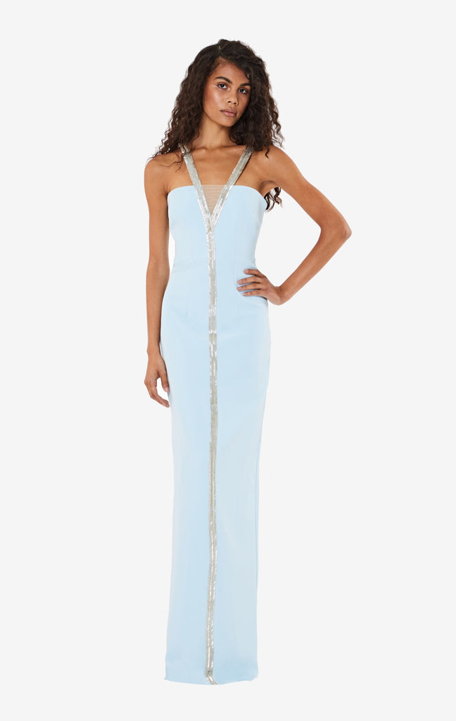 Capri V-neck Long Dress