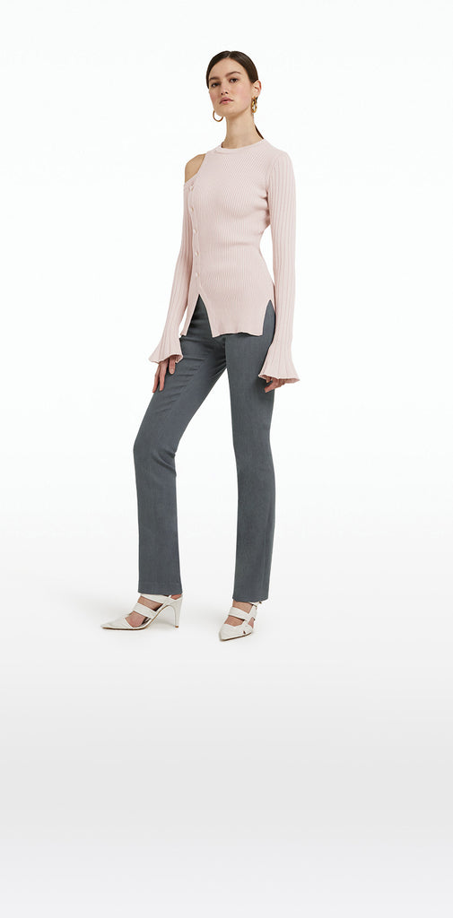 Goldie Light Grey Denim Trousers