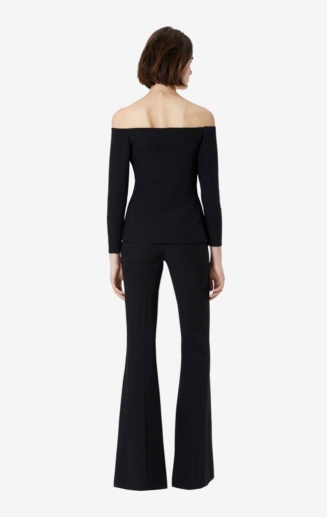 Halluana Front Zip Black Trousers