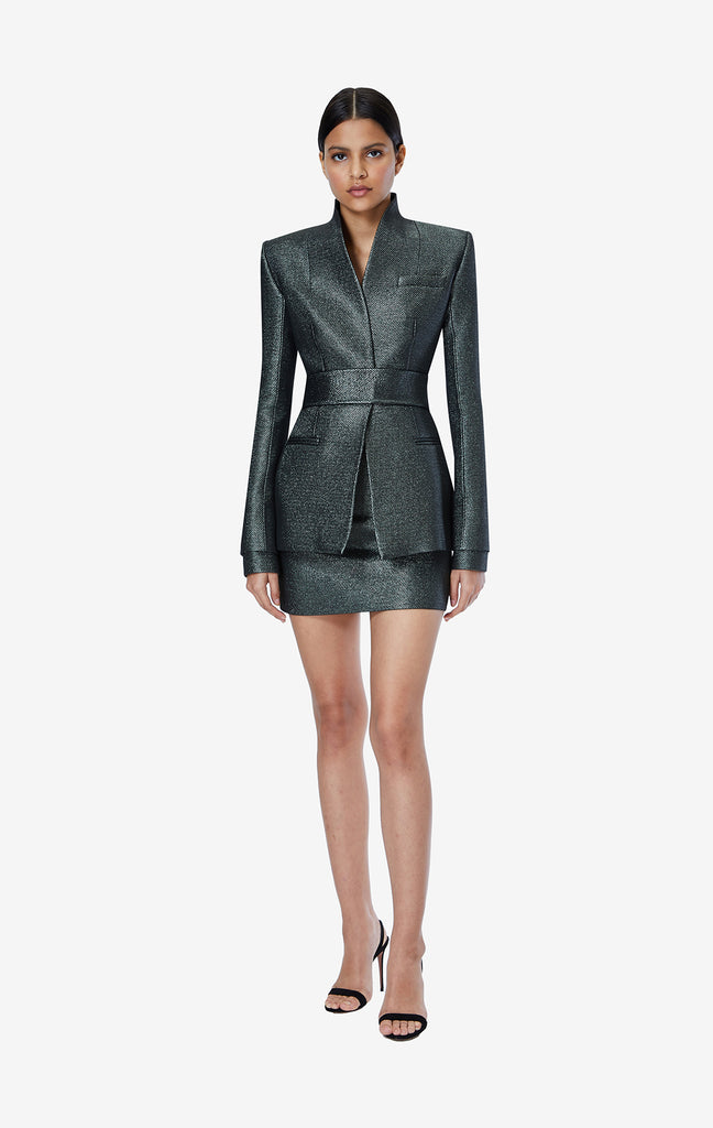 Heather Sparkle Stretch Jacquard Jacket