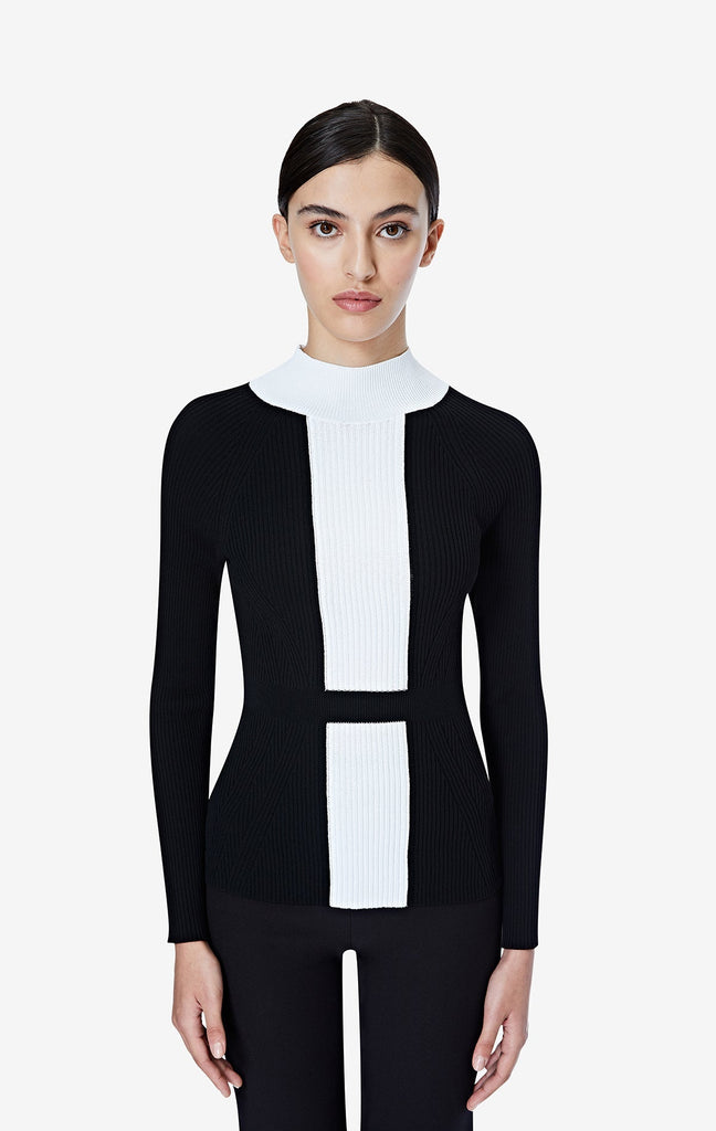 Myrna Black and Ivory Knit