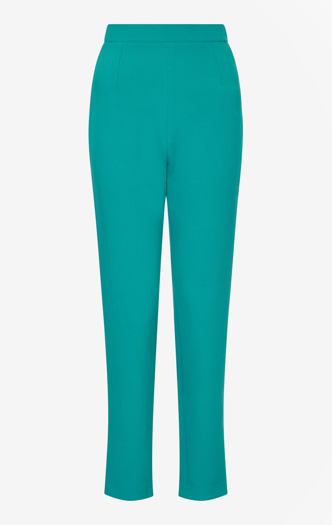 Adrianna Quetzal Green Slim Leg Trousers