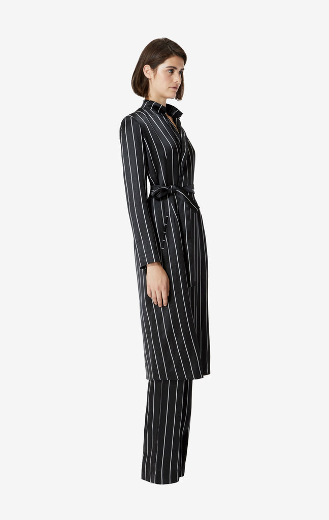 Pheme Long Pinstripe Coat
