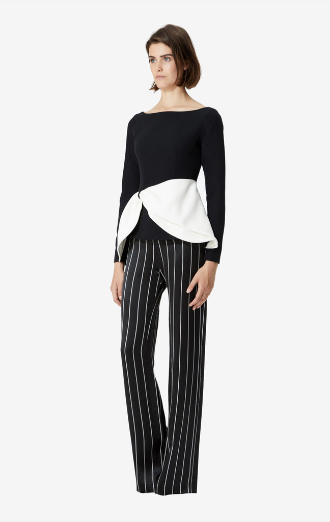 Dankia High Waisted Pinstripe Trousers