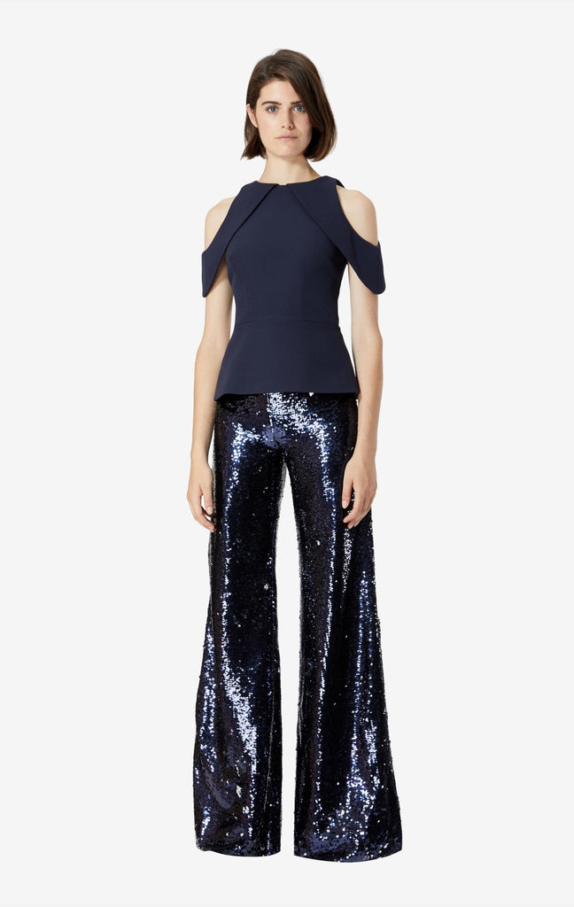 Opal Sequin Open Shoulder Top