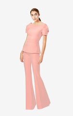 Halluana Side Zip Flamingo Pink Trousers