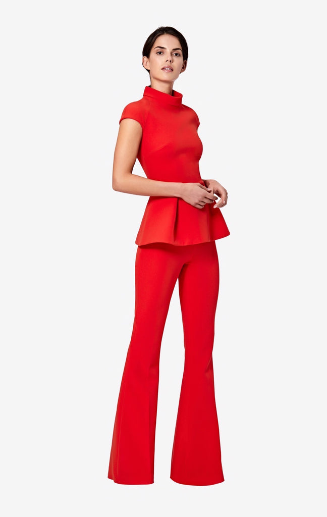 Halluana Side Zip Scarlet Red Trousers