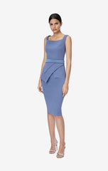 Donna Agate Grey Midi Dress