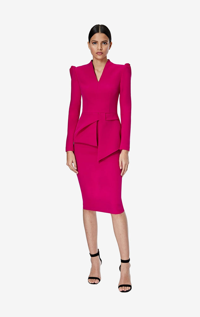 Tamila Fuchsia Midi Dress