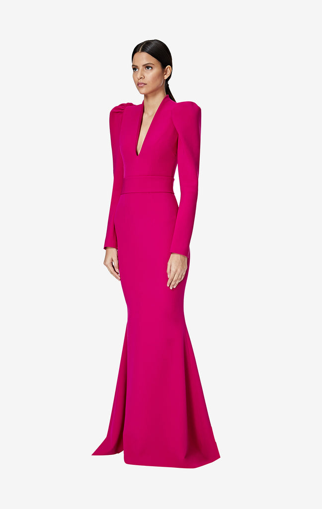 Tonya Fuchsia Long Dress