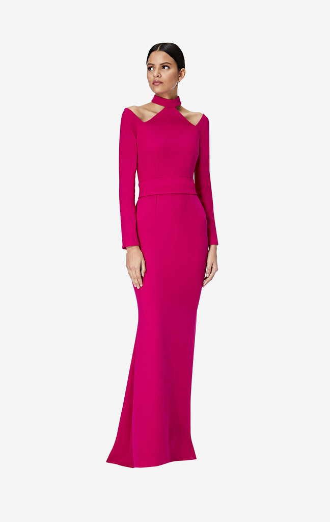 Vega Fuchsia Long Dress