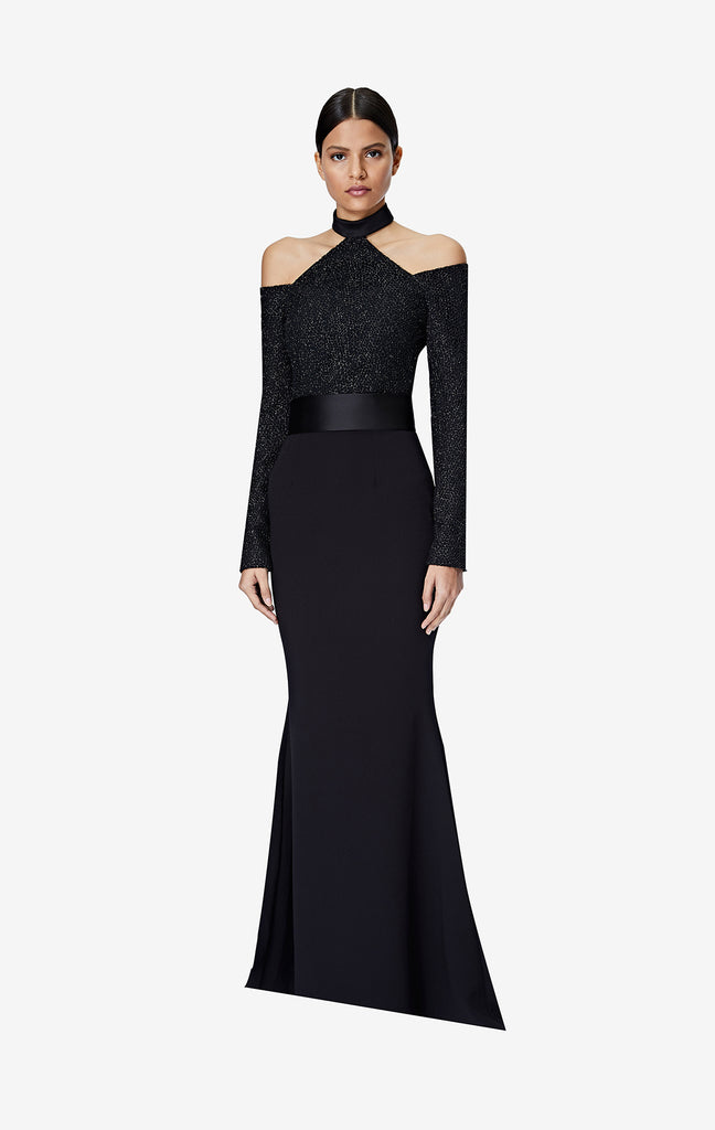 Vega Black Long Dress