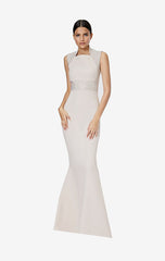 Jerry White Sand Long Dress