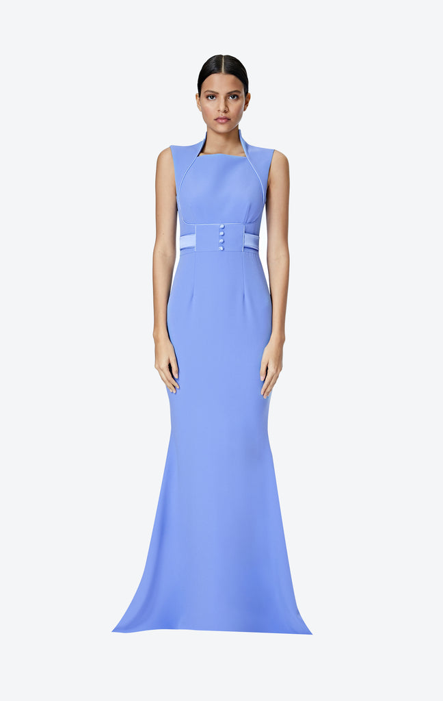 Jerry Safiyaa Blue Long Dress