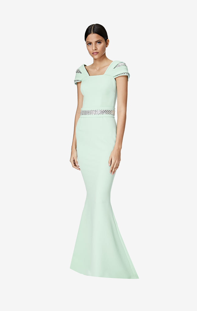 Abigail Long Dress With Embroidered Belt