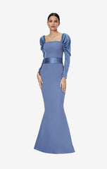Farrah Agate Grey Long Dress