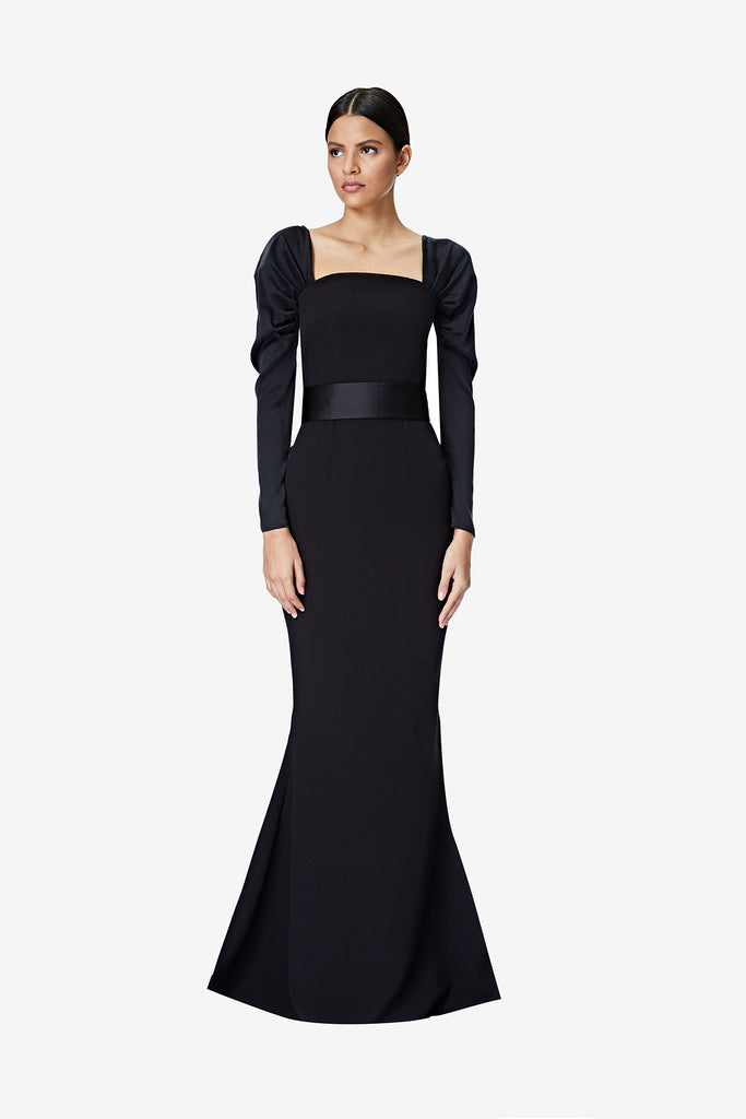 Farrah Black Long Dress