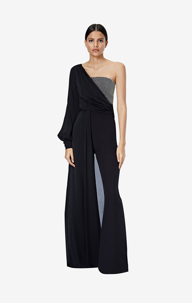 Sharisha Black Jumpsuit With Topper