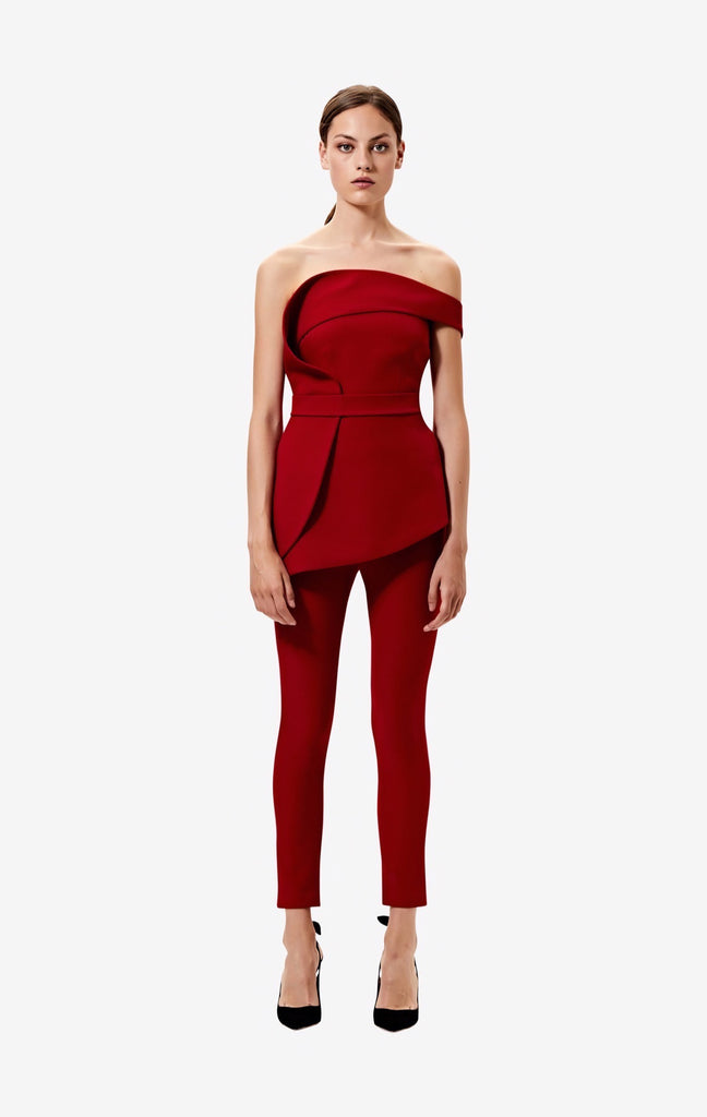 Azalea Red Adrianna Trousers