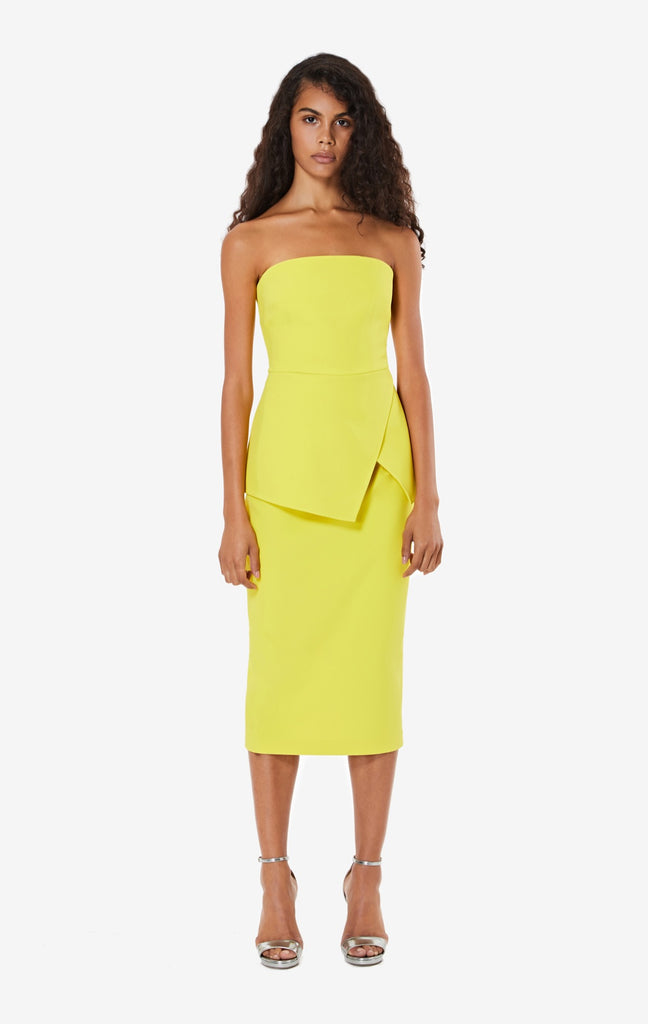 Hokoku Chartreuse Pencil Skirt
