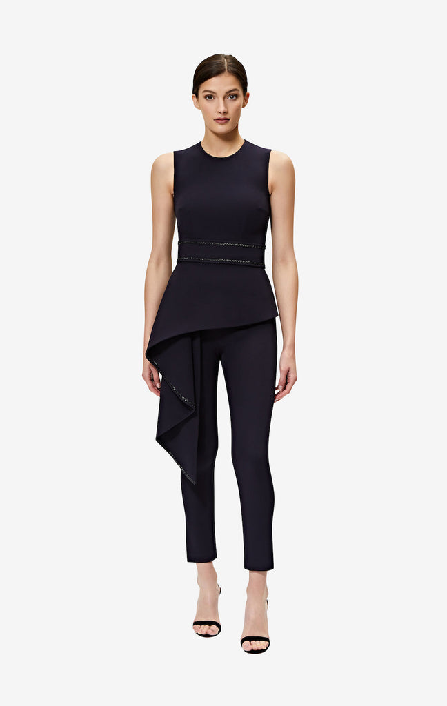 Adrianna Midnight Navy Slim Trousers