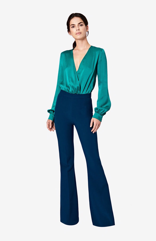 Halluana Side Zip Peacock Trousers