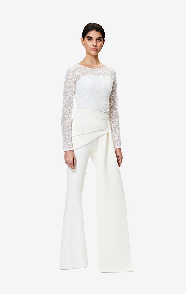 Hope Overlay Ivory Trousers