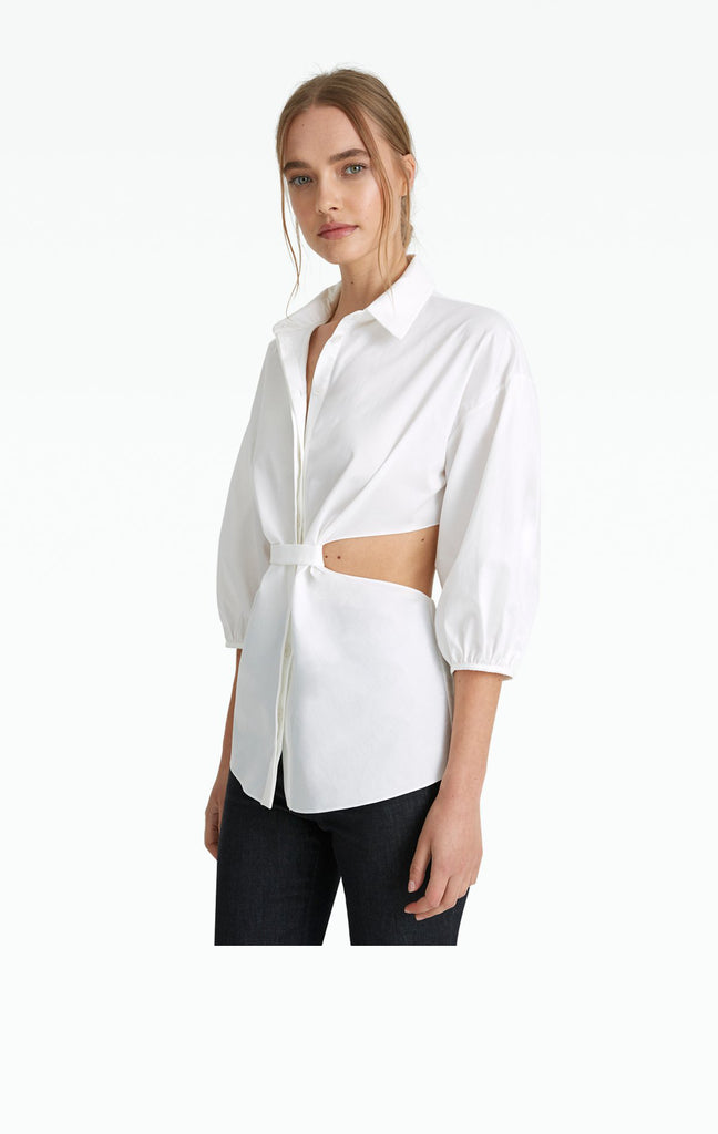 Stella White Cotton Blouse