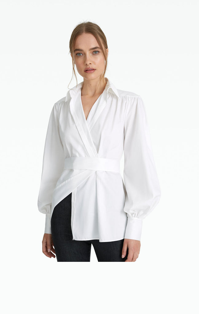 Odyssey White Cotton Blouse