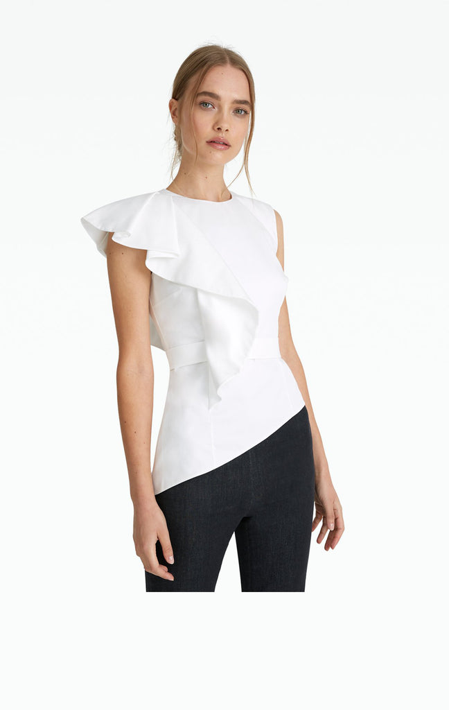 Mirla White Cotton Blouse