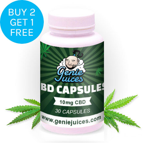 CBD 30 Capsules - 10mg - Genie Juices