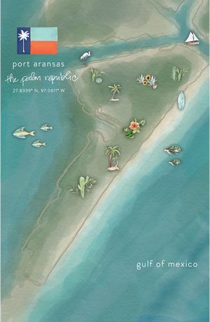 Port Aransas Watercolor Art Print