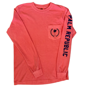 Palm Family Crest Coral Long Sleeve