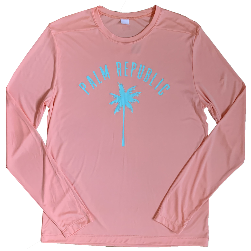 Coral Long Sleeve Yacht Club Fishing Shirt