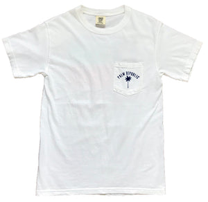 White Short Sleeve Flag Pocket Tee