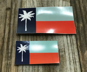 Palm Republic Original Flag of Port Aransas Decal