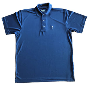 Palm Embroidered Navy Dri-fit Polo